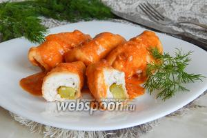 Крученики из куриного филе