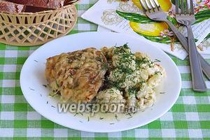 Куриные бёдрышки с цветной капустой в аэрогриле