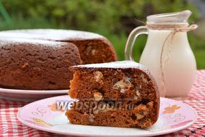Карамельно-ореховый пирог в мультиварке