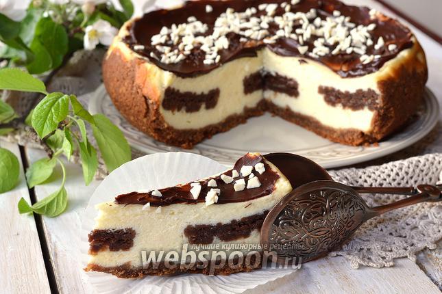 Фото Сырник с шоколадным печеньем в мультиварке