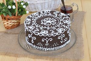 Шоколадный торт «Кружева»