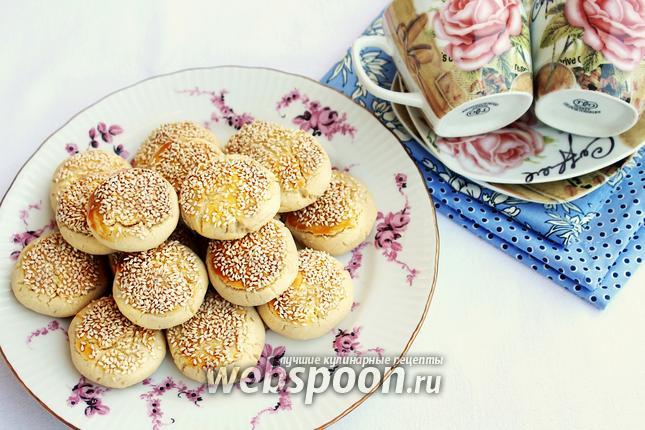 Фото Печенье с обжаренным кунжутом