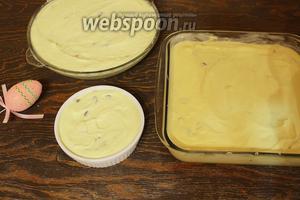 Разложить по смазанным сливочным маслом формы. Запекать в разогретой до 180 °C духовке, 30-45 минут (в зависимости от размера формы).