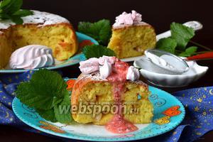 Творожный пирог с кусочками зефира в мультиварке