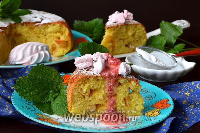 Фото Творожный пирог с кусочками зефира в мультиварке