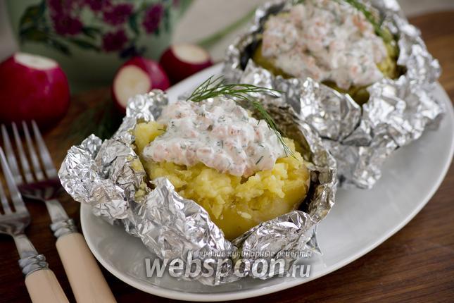 Фото Картофель фаршированный сметанным соусом