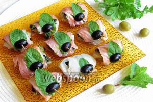 Закуска из двух видов рыбы