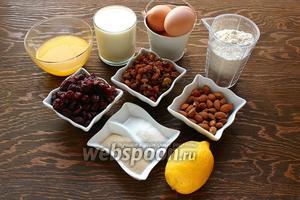 Для Панеттоне от Лорель Паскаль, надо: масло (растопленное), молоко (тёплое 37 °C), яйца, мука, дрожжи, сахар, вишня, изюм, миндаль (чищенный), цедра лимона, соль и терпение.