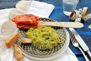 Луково-картофельное пюре с ветчиной