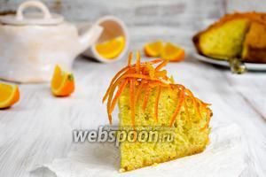 Апельсиновый кекс в карамели с цукатами