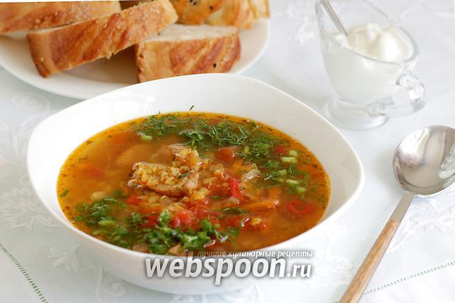 Фото Чечевичный суп со свининой