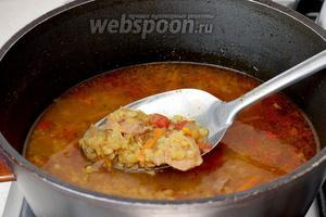 Потом добавить чечевицу и варить суп до её готовности. Попробовать на соль, добавляя  по вкусу чего не хватает.