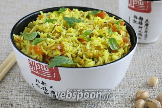 Фото Рисовый салат с фисташками и мятой
