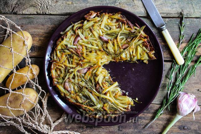 Фото Рести из картофеля с розмарином и молодым чесноком