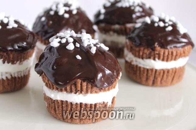 Фото Шоколадные кексы с кремом