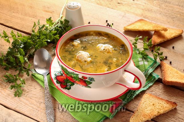 Фото Суп с фрикадельками в мультиварке
