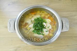 И добавляем в готовый суп.
