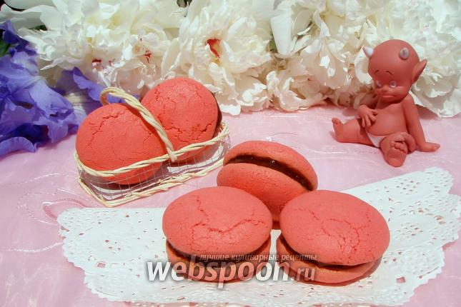 Фото Печенье Red Macarons