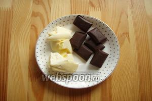Теперь можно заняться и начинкой. Самая вкусная как для меня это шоколадный ганаш. Для него берём шоколад и сливочное масло.