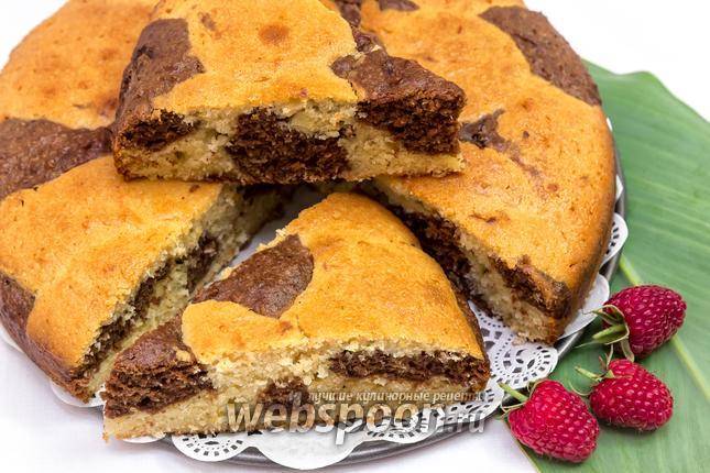 Фото Пятнистый кокосовый пирог