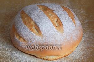 Сметанный хлеб готов!