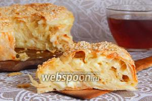 Пирог-улитка из лаваша с брынзой и сулугуни