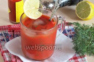 Освежающий томатный коктейль с петрушкой