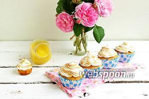 Капкейки по мотивам «Lemon meringue pie»