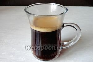 Кофе готов, предлагаю подать кофе с оливками.