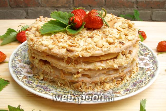 рецепт клубничный торт наполеон