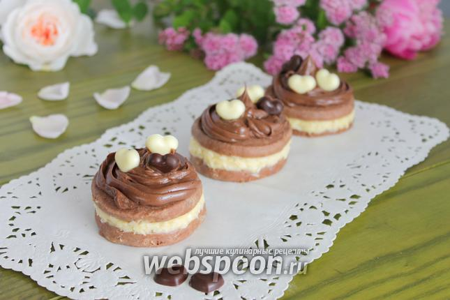 Фото Шоколадное печенье с кремом