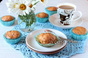 Карамельные кексы с орехами