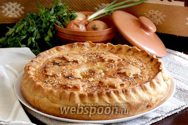 Фото Домашний пирог со свининой и картофелем