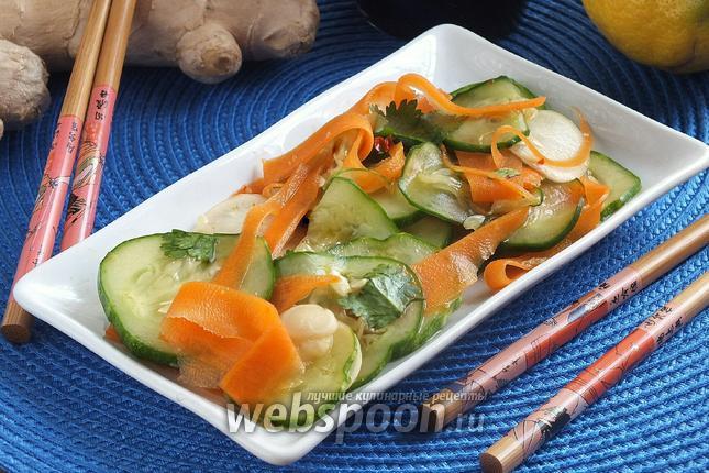 Фото Освежающий азиатский салат