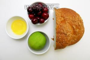 Для приготовления шашлыка нам понадобятся следующие ингредиенты: черешня, булочка сладкая, сок лайма, мёд.
