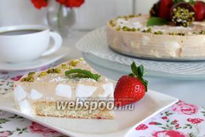 Клубнично-шифоновый торт