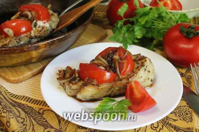 Фото Свиные котлеты с помидорами и прованскими травами