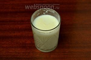 Сухое молоко разводим в воде.