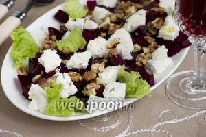 Салат из маринованной свёклы