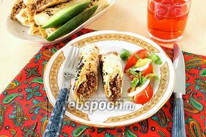 Пирожки из лаваша в духовке с фаршем