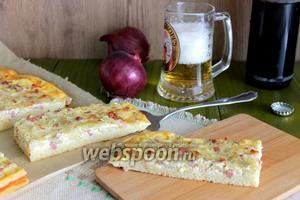 Немецкий луковый кухен