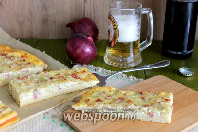 Фото Немецкий луковый кухен
