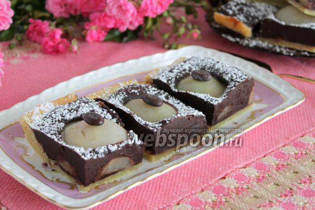 Фото Шоколадный пирог с грушами