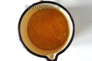 В кипящий сироп добавляем апельсиновую цедру, варим ещё 2 минуту, и снимаем с огня.