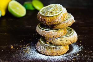 Миндальное печенье с лимонными дольками