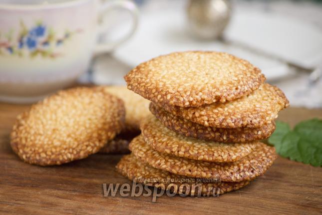 Фото Хрустящее кунжутное печенье