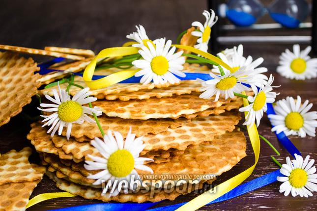 Фото Нежные вафли с творогом