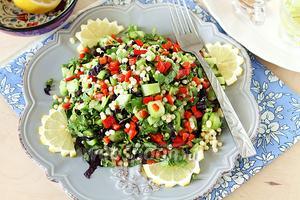 Свежий салат с кускусом