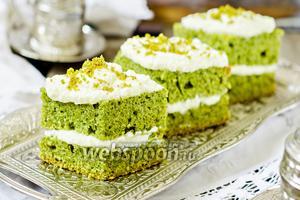 Ванильно-шпинатные пирожные