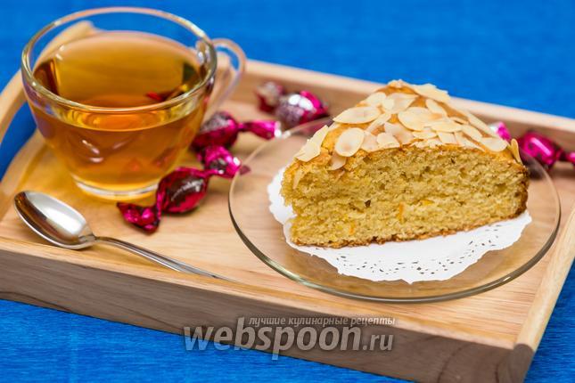 Фото Кукурузно-миндальный пирог с апельсином